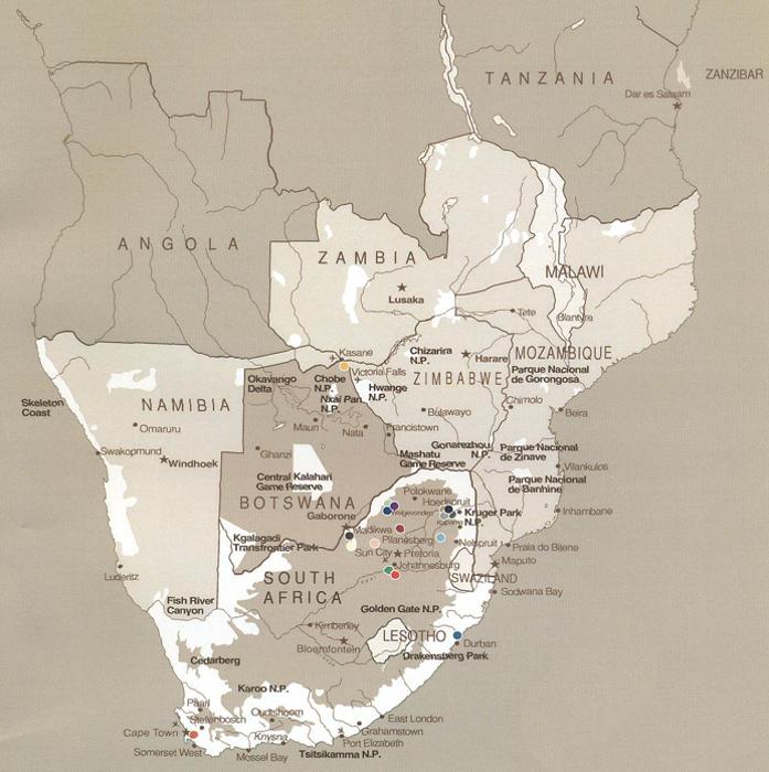 MAPA SUL DA ÁFRICA