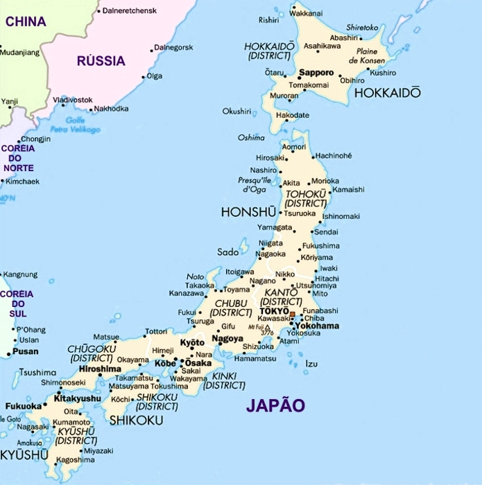 japão mapa Mapa do Japão, Viagens Coréia do Sul, Pacotes Japão e China japão mapa
