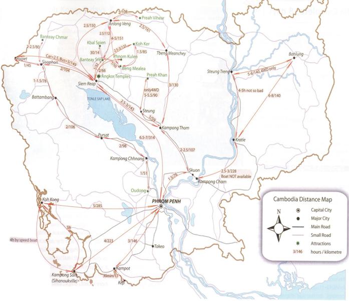 Distâncias Camboja