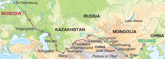 Mapa - Rota da Seda