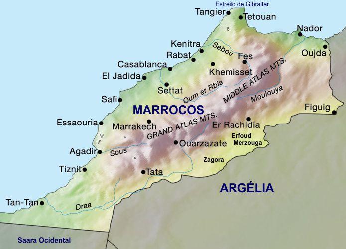 marrocos no mapa Mapa Marrocos marrocos no mapa