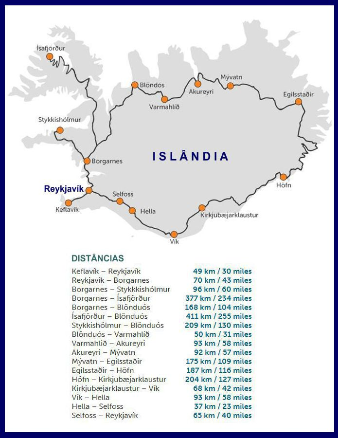 Mapa - Islândia
