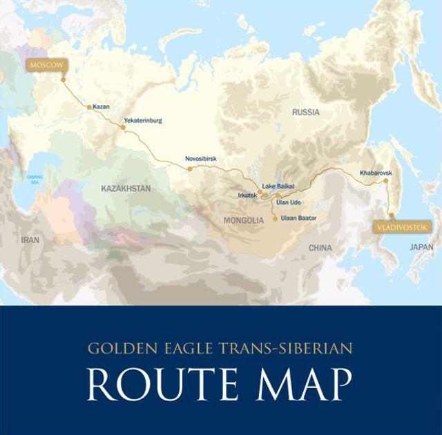 Mapa - Trem Transiberiano