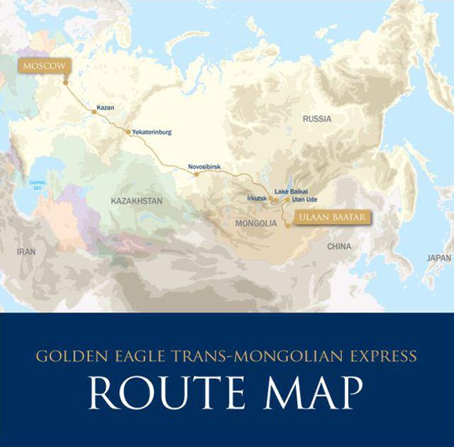Mapa - Trem Transmongoliano