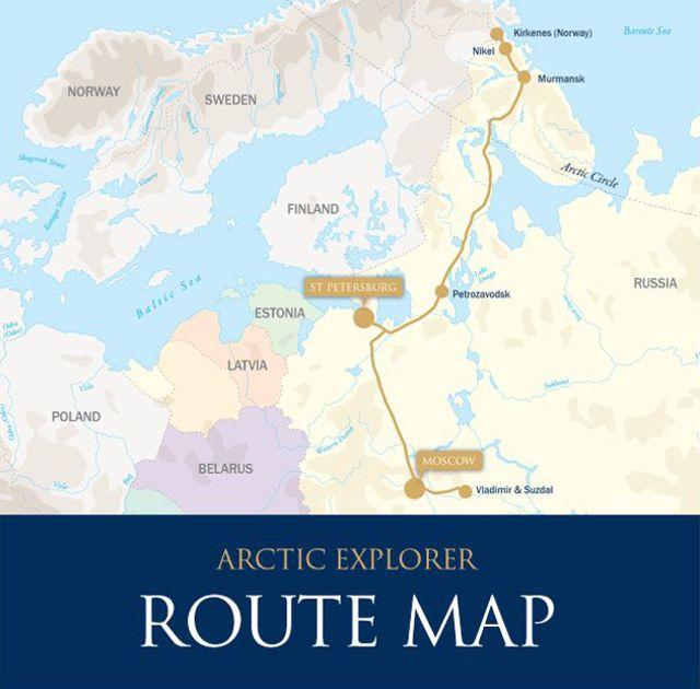 Mapa - Trem Arctic Explorer