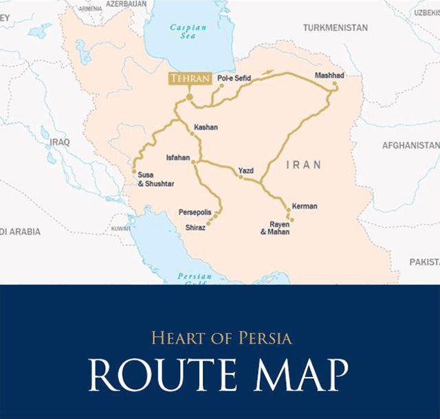 Mapa - Trem Pérsia Tradicional